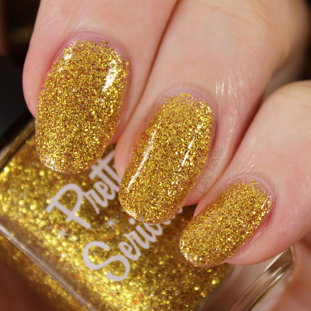 Pretty Serious Tarnished Tinsel nail polish swatches & review