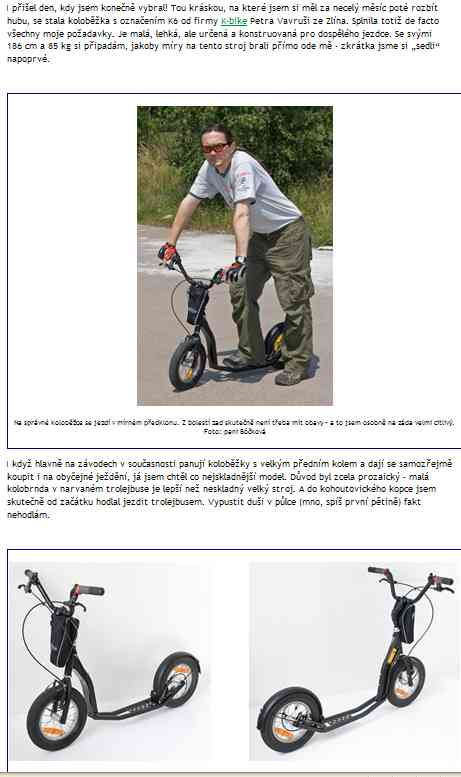 trottinette tcheque K-Bike K6