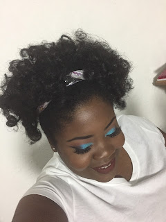 Roller Set on Natural Hair.