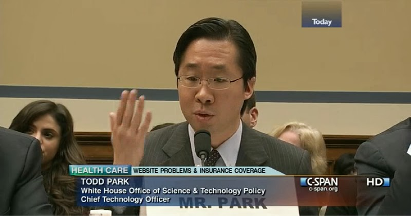 Todd Y. Park, U.S. CTO, testified before the House Oversight Committee about the website failures of HealthCare.gov, Nov. 13, 2013
