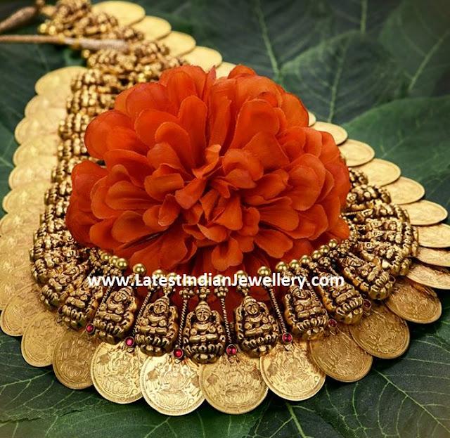 Gold Lakshmi Kasulaperu