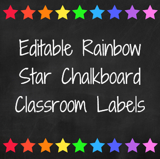 Rainbow Star Classroom Labels | you clever monkey