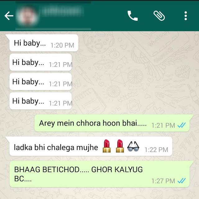 Funny Chats on WhatsApp Hindi / Urdu