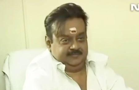 Captain Vijayakanth NDTV English Interview Fun
