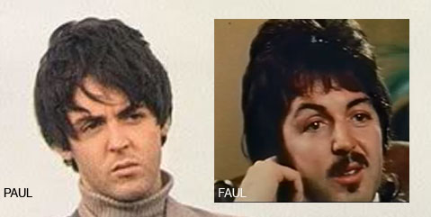 Paul McCartney Left Vs Faul Right