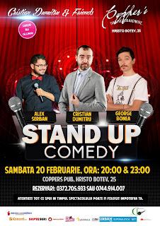 Stand-Up Comedy Sambata 20 februarie Bucuresti