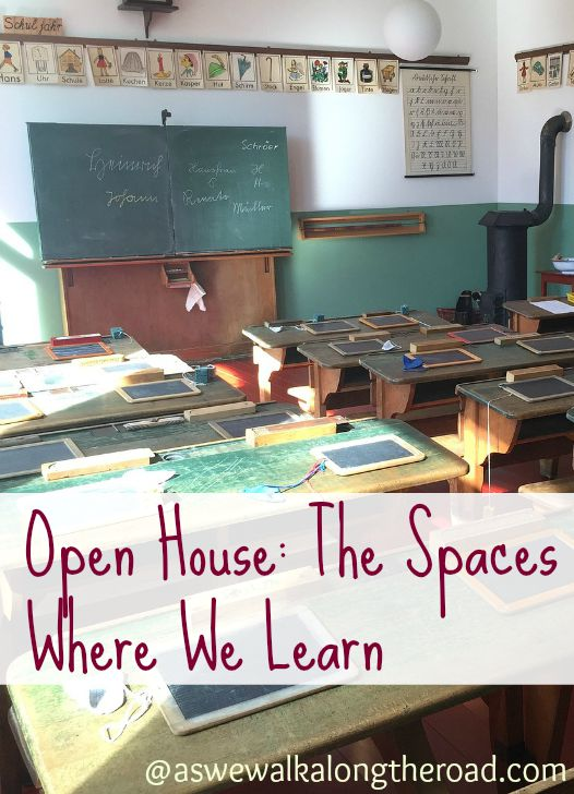 A look at our homeschool schoolroom and the areas where we do school