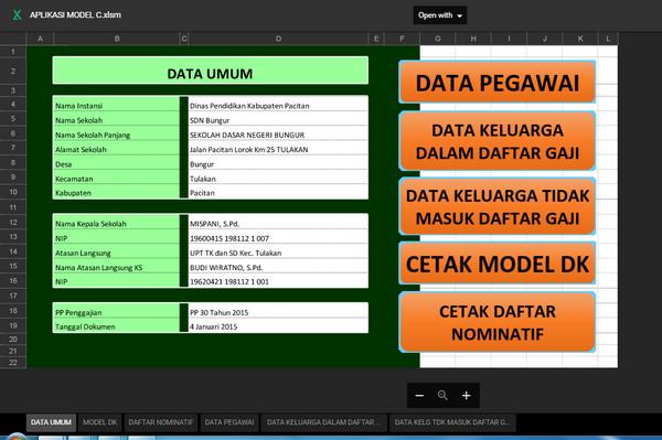 Aplikasi Kepegawaian Model C