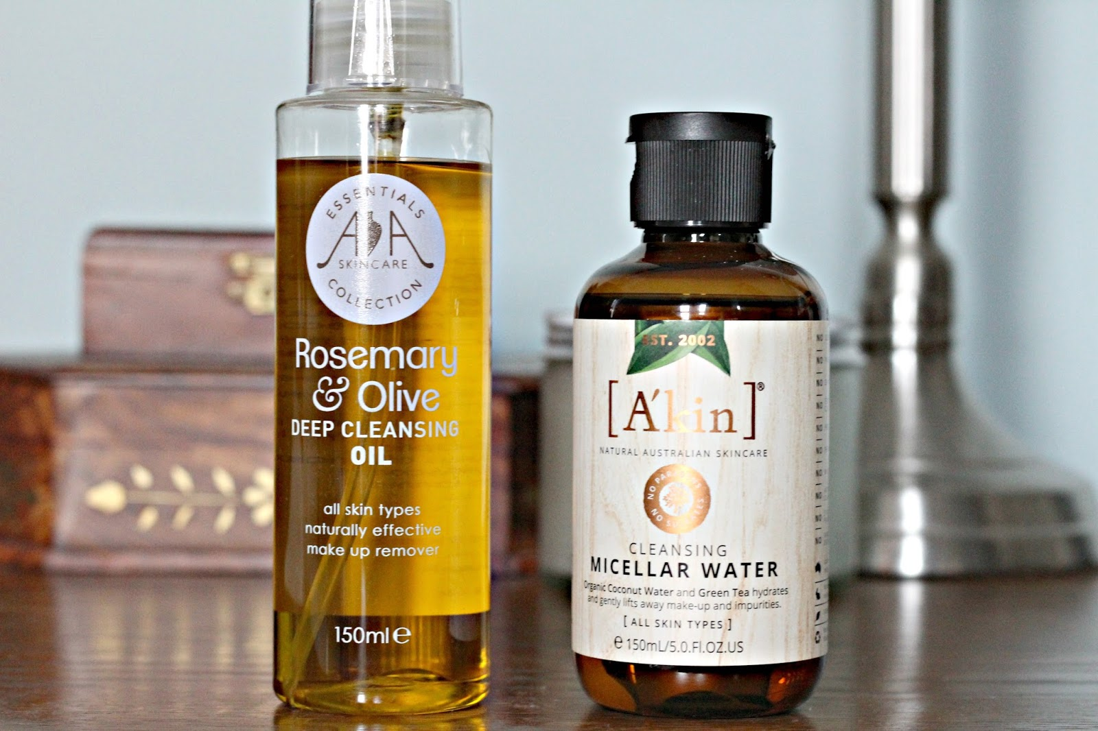 Make up removers tried and tested – AA Skincare cleansing oil and A'kin Cleansing water