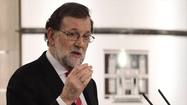 """Rajoy califica como """"absurdo"""" celebración de referéndum catalán"""