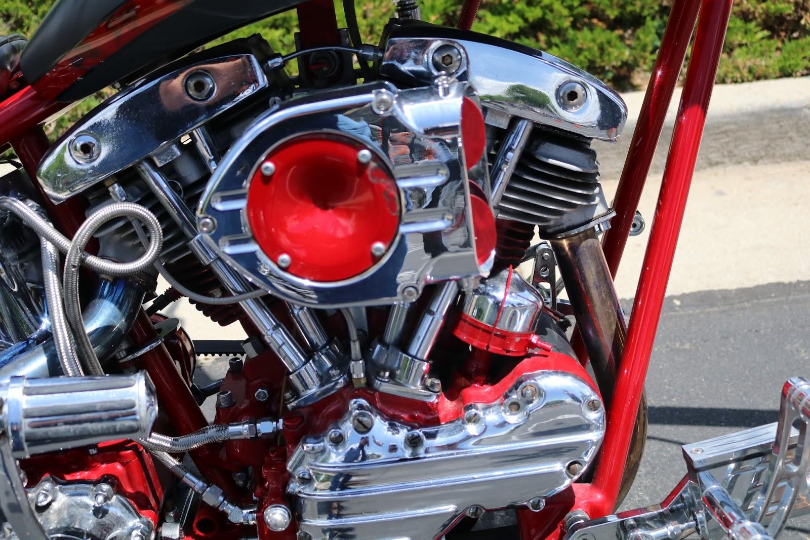 Oldmotodude Harley Davidson Chopper On Display At The
