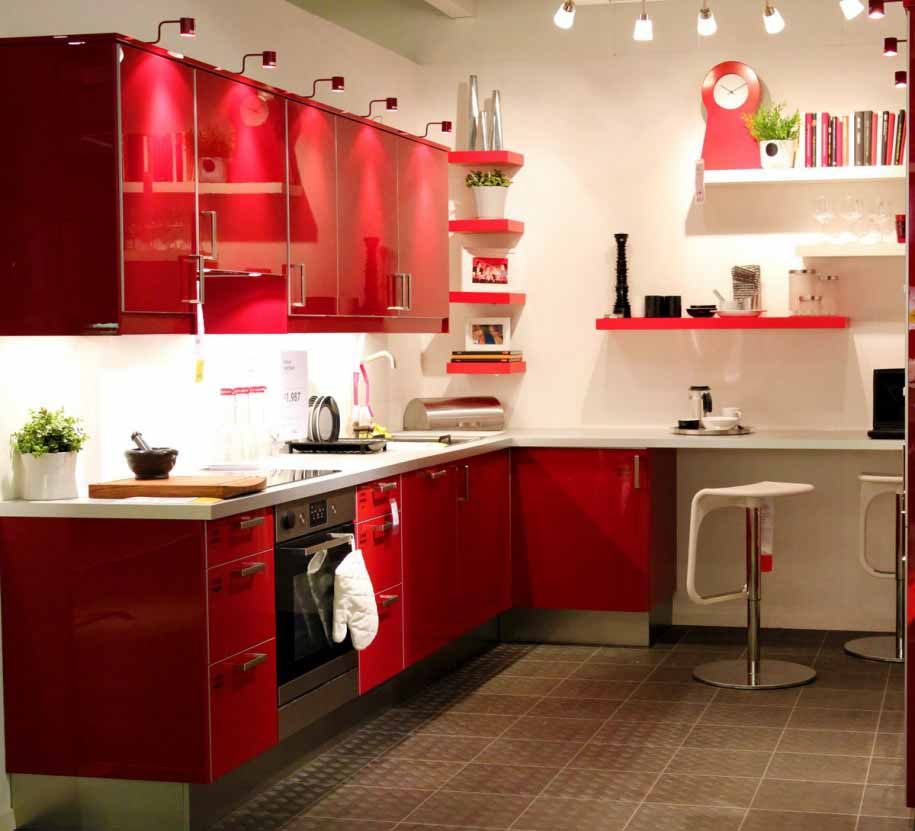 Kitchen Set Jadi: Design Dapur Merah