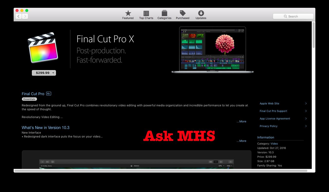 Apple Final Cut Pro X 10 3 Direct Download