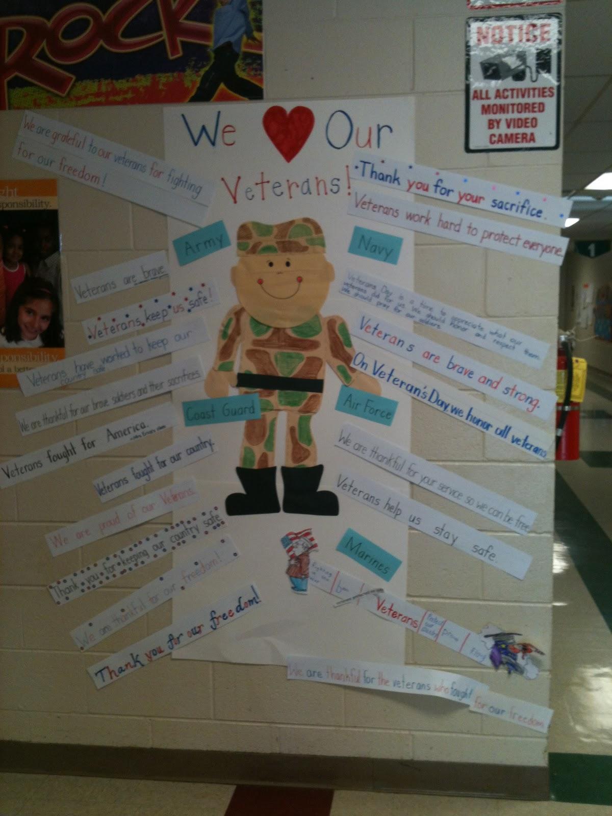 Cookin Up Success In Third Grade Veteran S Day Activities