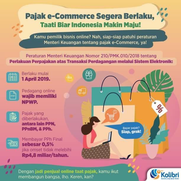 Ada Pajak e-Commerce Mulai 1 April 2019