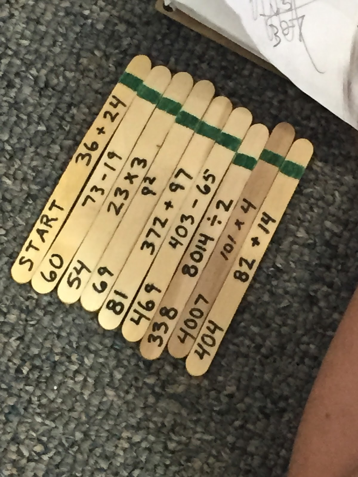 Caffeine And Lesson Plans Popsicle Stick Math Station