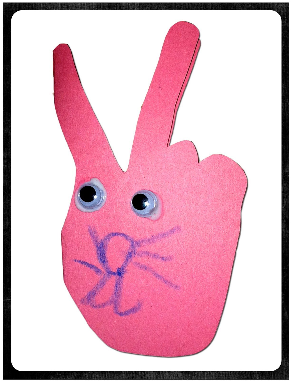 Mama S Little Muse Make An Easter Bunny Card From Child S Hand Tracing