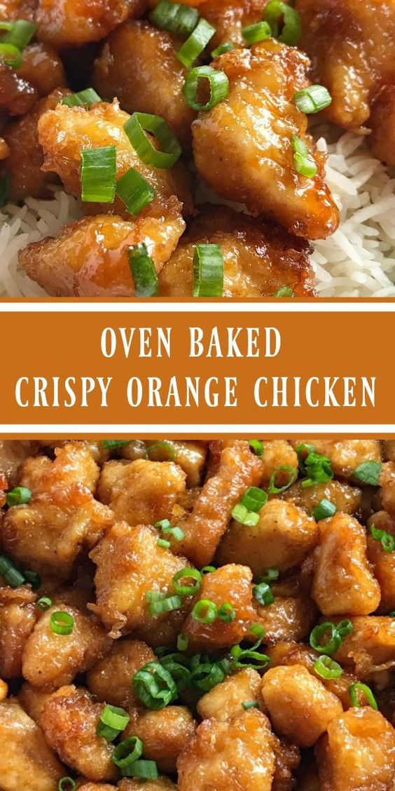 Baked Crispy Orange Chicken