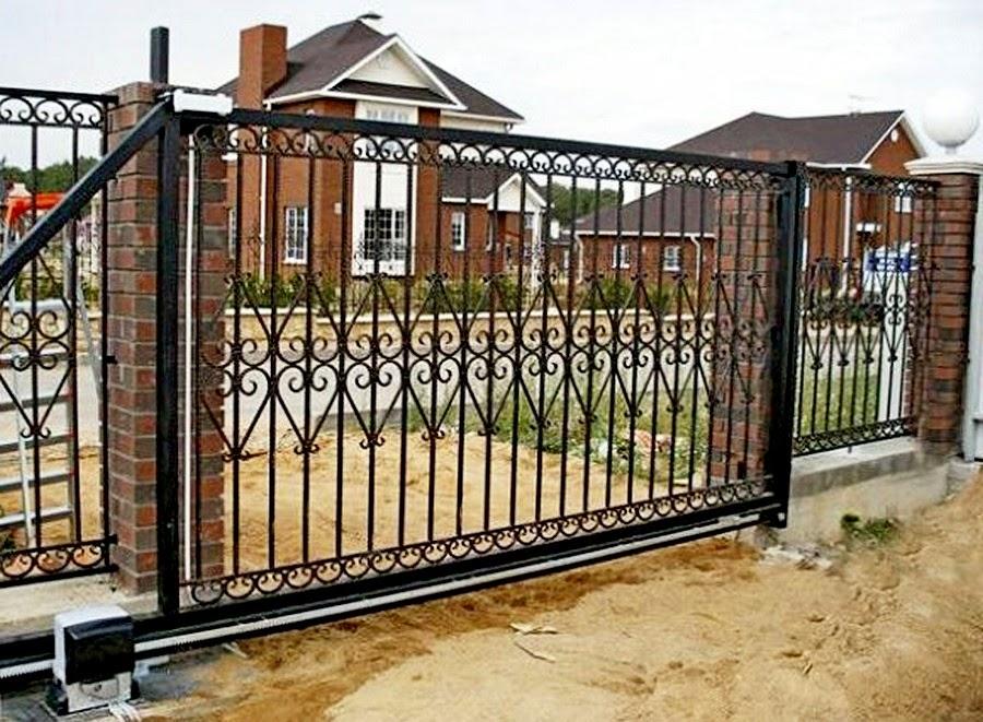 Откатные ворота своими руками фото