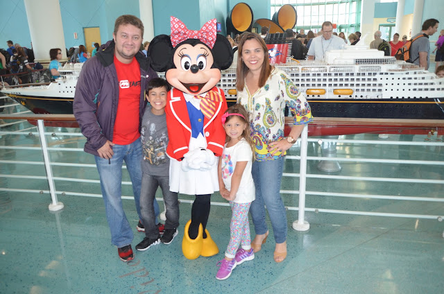 No dia do embarque no Cruzeiro da Disney