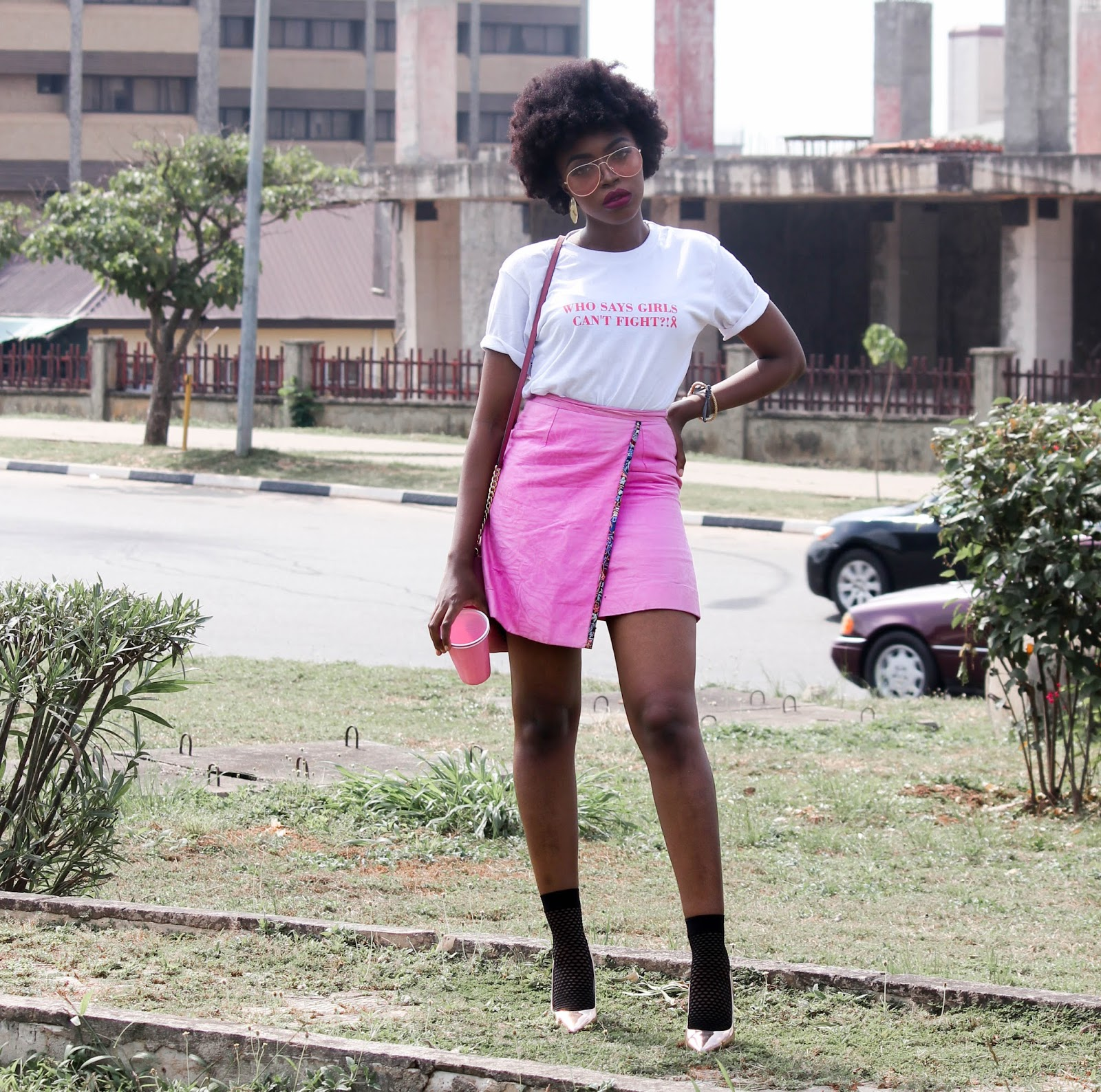 SAVE THE BOOBIES | NIGERIAN BLOGGERS FOR BREAST CANCER -  Bella for Breast Cancer Awareness by Nigerian Fashion Bloggers
