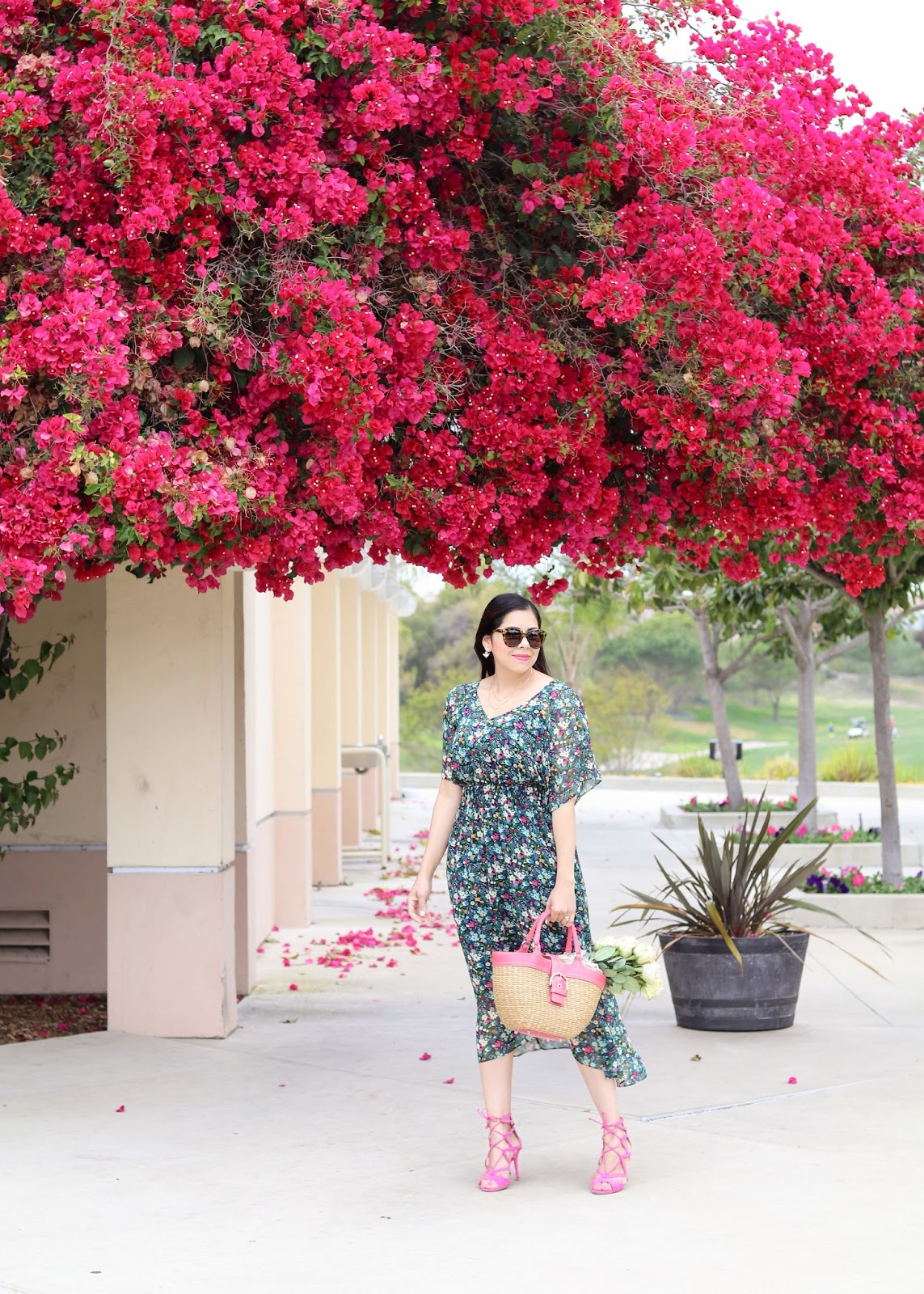 cabi maravilla collection, cabi floral dress, how to wear a floral dress