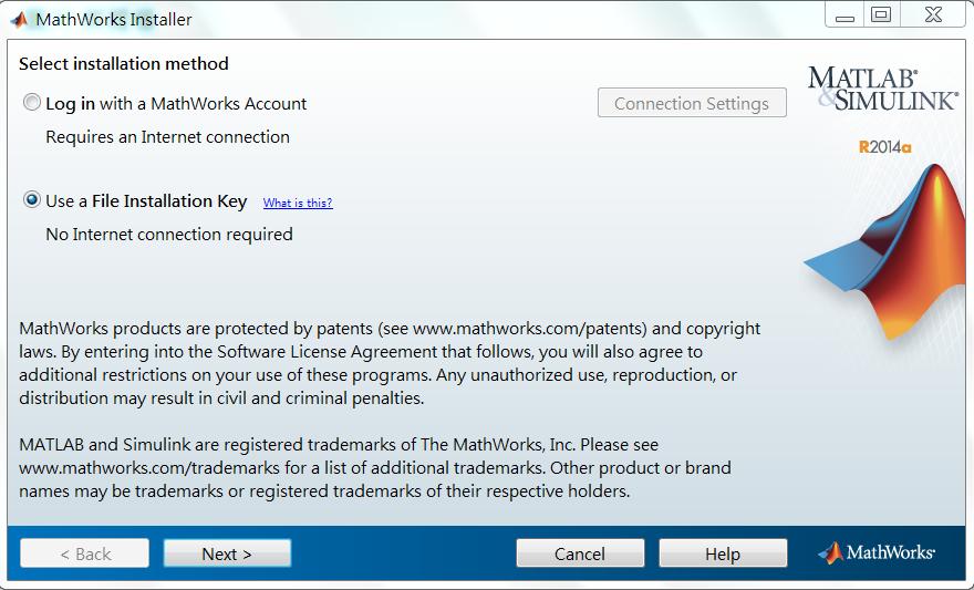 工作的意義: R2014a 網路版 Client 端安裝方法