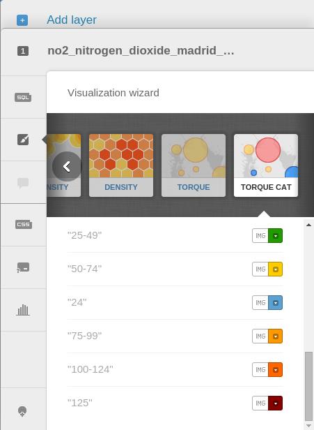 Cambiar los colores de las categorías en el 'Torque Cat' de CartoDB