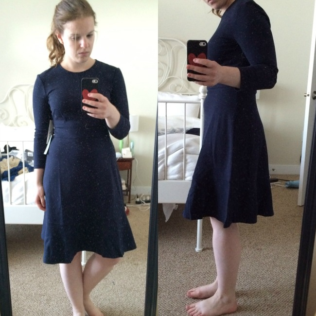 Shopping Reviews, Vol. 29: The Nordstrom Anniversary Sale | Something Good, women, clothing, clothes, fashion, fall fashion, style, Eliza J Ruffle Hem Stretch Fit & Flare Dress