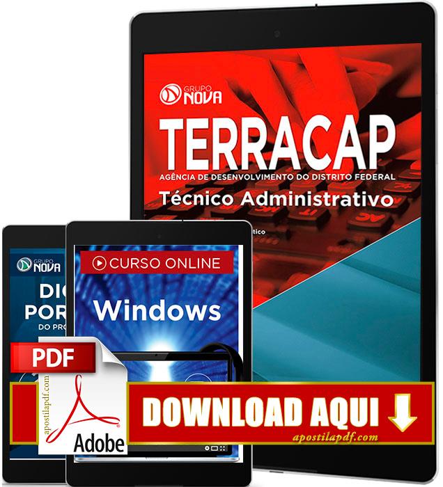 Apostila TERRACAP 2017 PDF Download Técnico Administrativo
