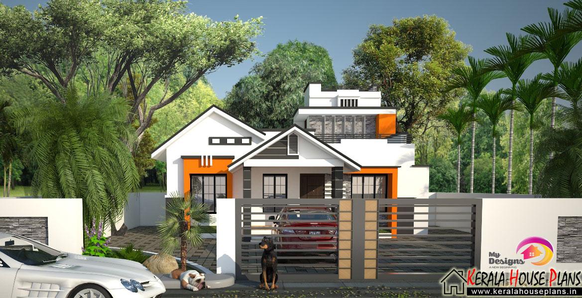 Contemporary Style Budget Home Design Of 1300 Sqft