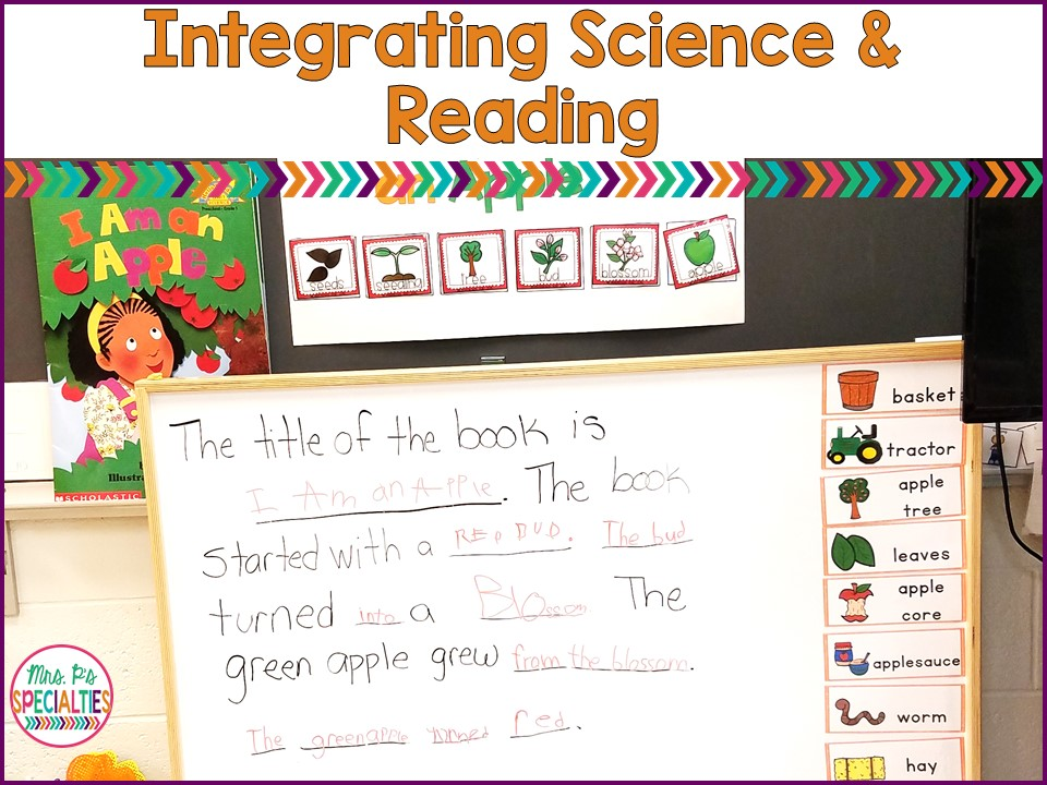 Easy examples to help you integrate science and reading skills in your special education classrooms. These ideas are easily applied to any theme unit.