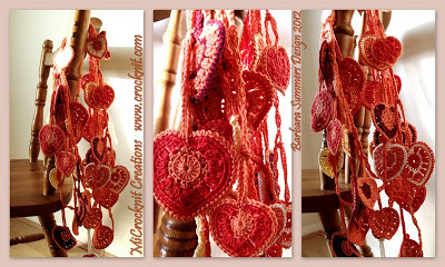 free crochet patterns, hearts, how to crochet, bunting, garland,