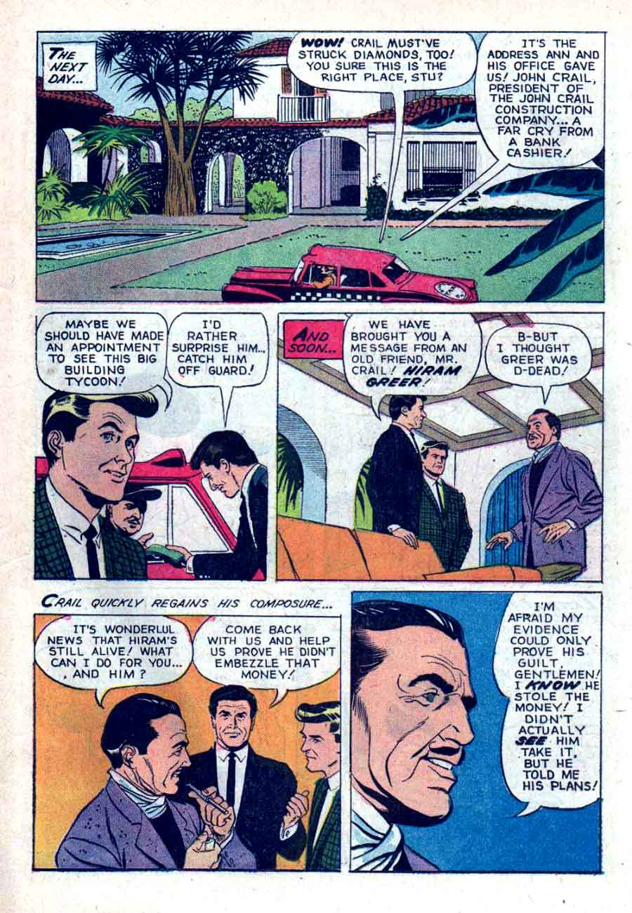 77 Sunset Strip / Four Color Comics #1291 dell tv 1960s silver age comic book page art by Russ Manning