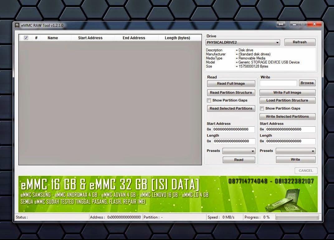 www Decker su: eMMC RAW Tool  Утилита для работы с устройствами на