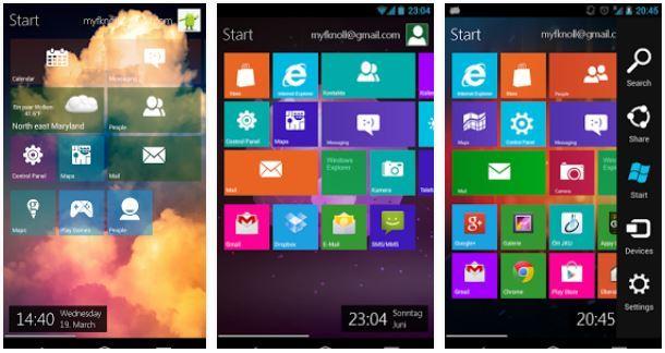 استمتع بتحويل هاتفك الاندرويد إلى شكل نظام ويندوز 8.1