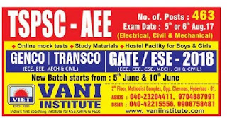 VANI INSTITUTE HYDERABAD TSPSC