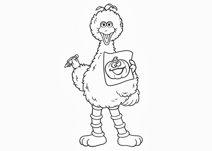 Sesame street Big Bird coloring