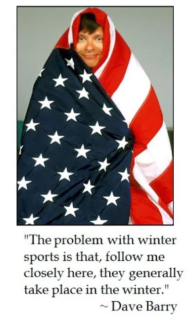 Dave Barry's humorous take on winter sports for Winter Olympics
