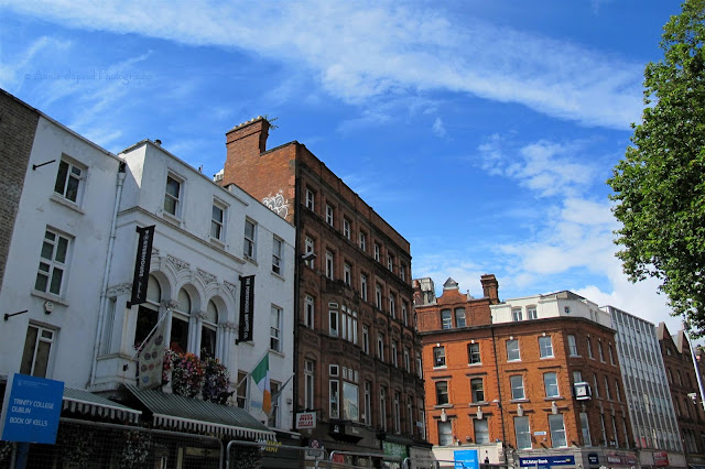 blue, sky, Dublin buildings