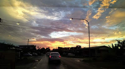 Sunset in Kuching last Saturday