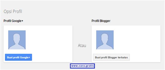 Buat Profil Blogger