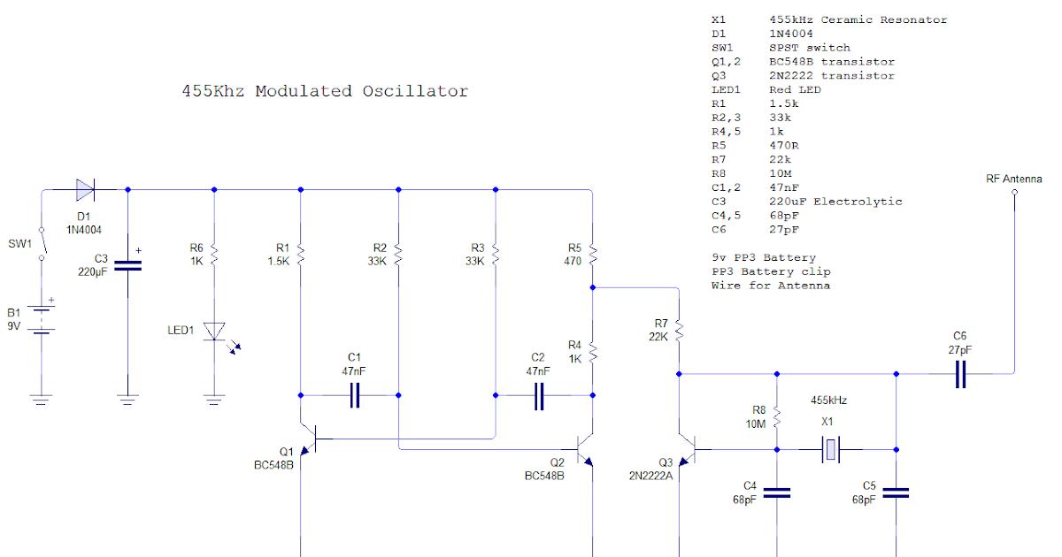 Electronics: 455kHz IF Signal Generator With AM Modulation