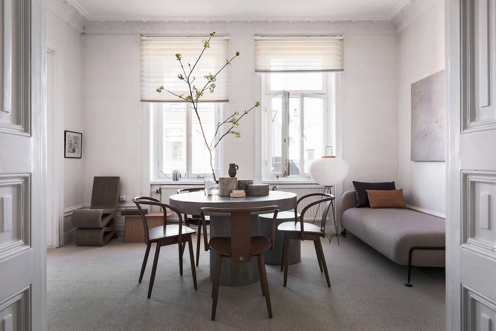 Appartamento con tonalità calde e fredde by Annaleena Leino  ARC ART blog by Daniele Drigo