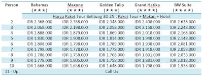 Paket Tour Belitung 3 Hari 2 Malam