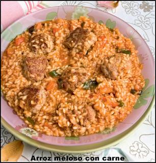 Arroz Meloso Con Carne