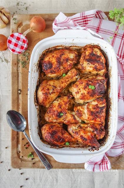 Kurczak pieczony na kiszonej kapuście