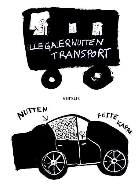 Kris Scheisse! 2008, Illegaler Nuttentransport versus Fette Karre, 100 x 70cm