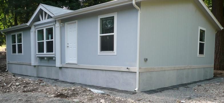 Brick Vector Picture: Brick Underpinning Mobile Home