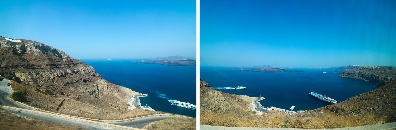 Santorini, Athinios Port, z Krety na Santorini, port,